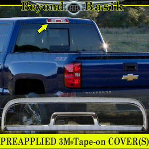 2014 2018 Chevy Silverado Gmc Sierra 1500 Triple Chrome Third Brake Light Cover