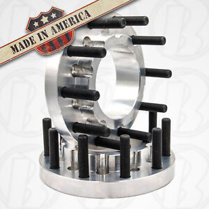 10 Lug Dually 10x8 75 To 10x285 Older Chevy Gm To Semi Wheel Adapters 1 5