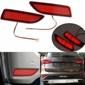 2x Car Rear Bumper Reflector Lamp Led Fog Brake Light Warning Light For Toyota
