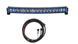 Rigid Industries Radiance Curved 30 Blue Back Light W Multi Trigger Harness