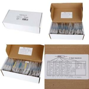 Electronics Tolerance Metal Film Resistors Kit 1 Watt 860pcs Individually Packed