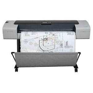 Hp T1100ps 44 Printer Plotter Blueprint Wide Format Construction Z6100 T770