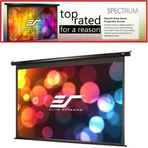 150 Electric Motorized Drop Down Projector Projection Screen W Ir Remote 16 9