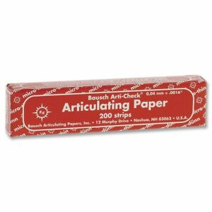 Bausch Articulating Papers Bk10 Articulating Paper Micro thin Booklets Red