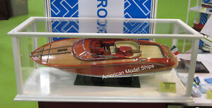 Display Case White Painted For Any Model Ship 32 35 With Acrylic