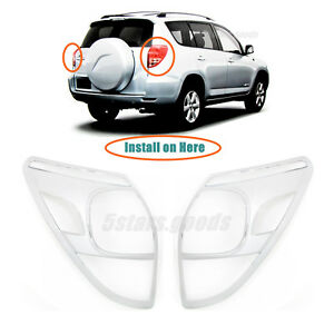 Chrome Rear Taillight Lamp Covers Trims For 2006 2007 2008 Toyota Rav4 Suv
