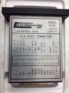 Cincinnati Electrosystems 4161 7 Segment Display Module 24v