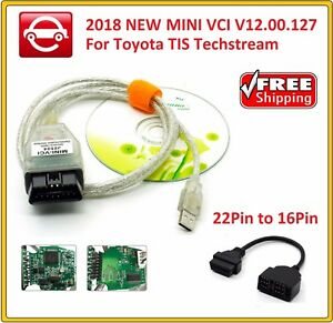 2018 New Mini Vci V12 00 127 For Toyota Tis Techstream Obd2 22pin To 16pin