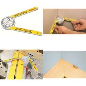 Saw Protractor Miter Angle Finder Level Gauge Laser Magnetic Inclinometer Blade