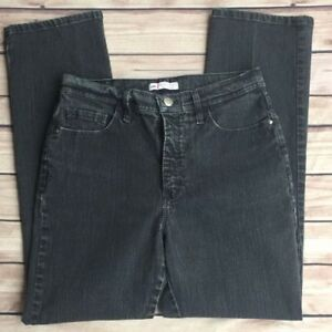 Riders by Lee Womans Classic Fit Petite Jeans Black Wash At Waist Jean Size 10P
