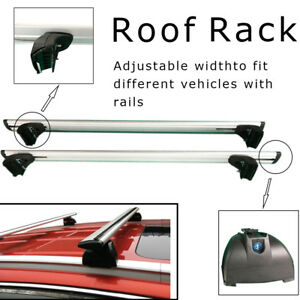 Aluminum 48 Utility Roof Rack Cross Bar Luggage Carrier With Locks For Suv