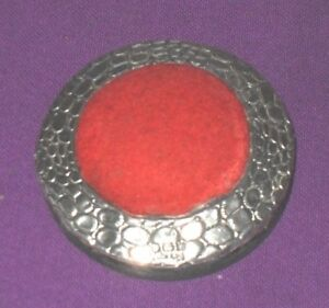 Edwardian 1903 Solid Embossed Sterling Silver Topped Velvet Pin Cushion Antique