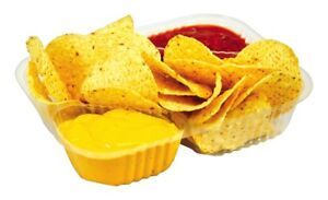 Great Western Clear Nacho Trays 2 Compartment 500 Ct Food Service Concession