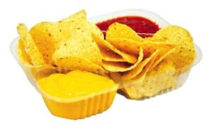 Large Clear Nacho Trays 3 Compartment 500 Ct Food Service Concession