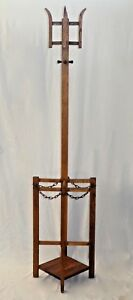 Antique Hall Tree Umbrella Stand Arts Crafts 69 5 H X 16 5 1920s