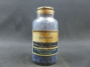 Vintage Bottle Of Litmus Cubes J t Baker The Kauffman lattimer Co