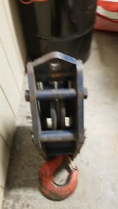 Mckissick Snatch Blocks One 20 Ton One 15 Ton Lifting With 9 16 Cable