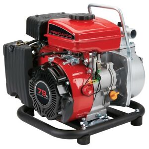 1 In 79cc Gasoline Engine Clear Water Pump 35 Gpm Portable Quick Start New