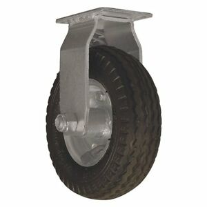 Caster 6 Inch All terrain Fixed 375 Lb Solid Rubber Standard Plate