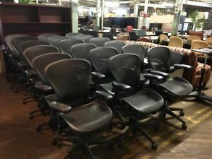 150 Black Herman Miller Aeron Chairs 385 Each