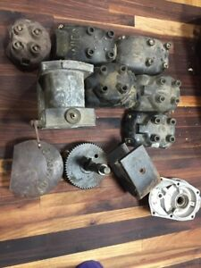 Antique Vintage Eisemann Magneto Parts Lot Wico Caps Tractor Engine Mag