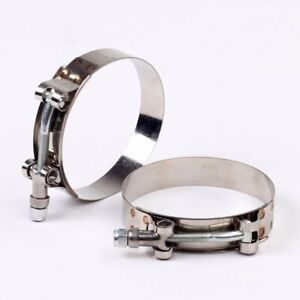 70 78mm Stainless Steel T Bolt Clamp Turbo 2 1 2 2 5 Silicone Hose Clamp 2pcs