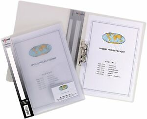 Snopake A4 Metal Press Clamp Binder Presentation File Folder Pack 10
