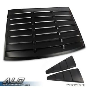 For 2005 2014 Ford Mustang Rear Back Quarter 1 4 Side Window Louver Scoop Cover