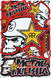 New Rockstar Energy Motocross Racing Graphic Stickers Decals 1 Sheet St193