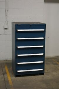 Used Kennedy 6 Drawer Cabinet 51 Inch Tall Industrial Tool Storage 1203 Vidmar