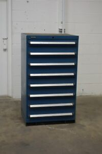 Used Kennedy 8 Drawer Cabinet 51 Tall Shallow Industrial Storage 1204 Vidmar