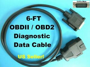 6ft Obd2 Obdii Scanner Main Data Cable For Matco Quickscan Md9001a Code Reader