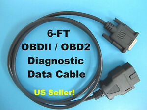 6ft Obd2 Obdii Scanner Main Data Cable For Matco Quickscan Md9001a Code Read