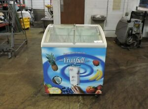 Metalfrio Msc30 Commercial Angled Curve Glass Top Ice Cream Freezer