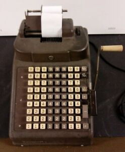 Vintage Burroughs Adding Machine Square Keys Manual Or Electric Operation