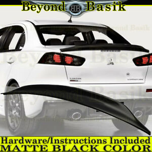 2008 2017 Mitsubishi Lancer Matte Black Factory Duck Bill Style Spoiler Wing