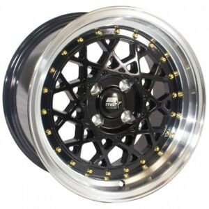 Mst Fiori1 5x8 20 4x100 Black Civic Integra Miata Mr2 Crx Yaris Del Sol Xb Xa