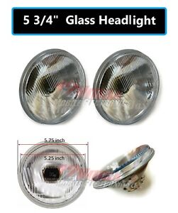 1 Pair 5 3 4 Round H4 9003 Bulb Conversion Headlight Replace H5001