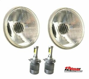 1 Pair 7 Round H6024 h6017 H4 Conversion Headlight H4 Led White Bulbs Hl7lf