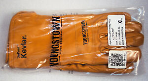 Youngstown Fr Leather Utility Plus Gloves Size Xl Fire Resistant W Kevlar