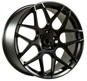 19x8 5 19x9 5 Aodhan Ls002 5x112 35 Black Rims For Audi A4 S4 Staggered