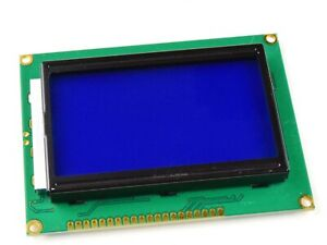 Glcd 12864 Graphic Lcd 128 X 64 Pixel Blue white St7920 Parallel Or Spi