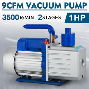 9cfm 2 Stages Vacuum Pump 1hp Air Conditioning 110v 50 60hz Refrigeration