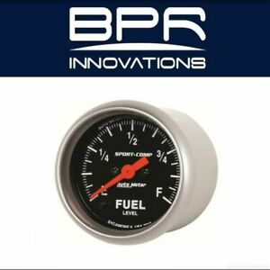 Autometer Sport Comp Analog Fuel Level Programmable Gauge 0 280 3310