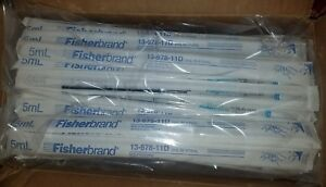 Case Of 100 Fisherbrand 5ml In 1 10ml Disposable Serological Pipets 13 678 11d