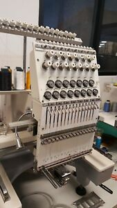 Commercial Embroidery Topwisdom 1501c Embroidery Machine 1 Head 15 Needle