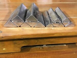 Pure soft lead ingots for reloading fishing and hobbies