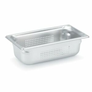 Vollrath Super Pan 3 90343 1 3 Size Anti jam Stainless Steel Perforated Steam 4
