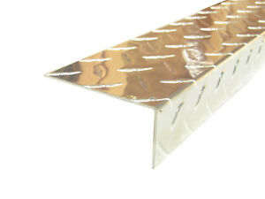 Aluminum Diamond Plate Angle 062 X 1 5 X 3 5 X 48 In 3003 Uaac 2pcs