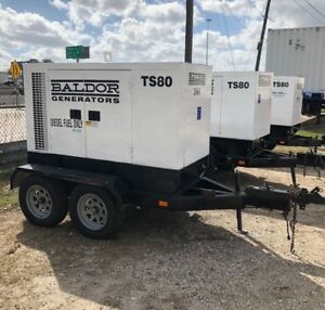 Baldor Ts80 65kw Portable Diesel Generator 1 Owner Low Hours 5 Available